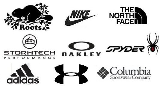 Brand Names: Addidas, Roots, UA, Nike & Northface