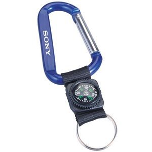 Carabiner With Decorative Compass (8mm)