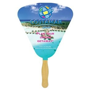 Seashell Sandwiched Hand Fan (2 Side/1 imprint color)
