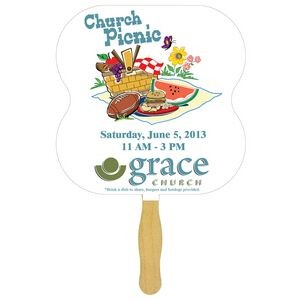 Hour Glass Sandwiched Hand Fan (2 Side/ FOUR COLOR PROCESS)