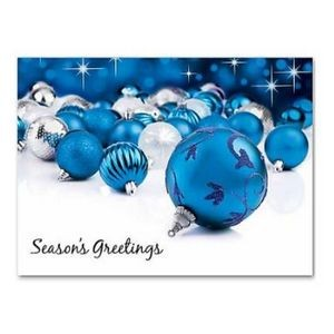 Greeting Card (Blue Ornaments)