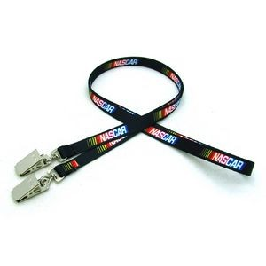 "3/8"" Digitally Sublimated Lanyard w/ Double Standard Attachment"
