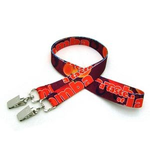 "3/4"" Digitally Sublimated Lanyard w/ Double Standard Attachment"