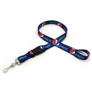 "1/2"" Digitally Sublimated Lanyard w/ Detachable Buckle"