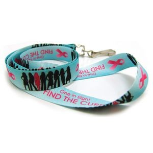 Breast Cancer Awareness Digitally Sublimated Lanyard w/3 Day Service