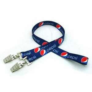 "1/2"" Digitally Sublimated Lanyard w/ Double Standard Attachment"