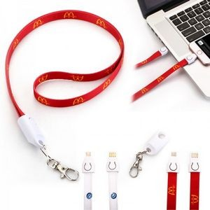 Full color charger lanyard