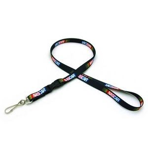 "3/8"" Digitally Sublimated Lanyard w/ Detachable Buckle"