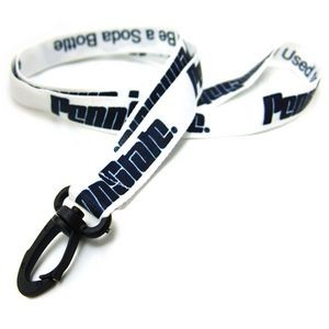 Silkscreened Recycled Lanyard w/ Standard Attachment