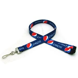"1/2"" Digitally Sublimated Lanyard w/ Sew on Breakaway"