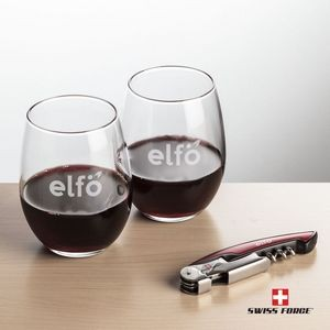 Swiss Force® Opener & 2 Stanford Wine - Red