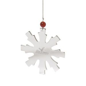 Glistening Snowflake Ornament - Stainless Steel