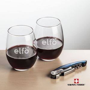 Swiss Force® Opener & 2 Stanford Wine - Blue