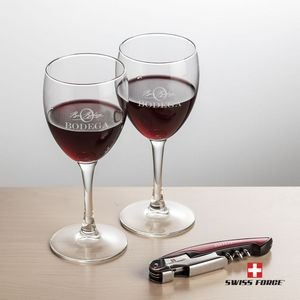 Swiss Force® Opener & 2 Carberry Wine - Red