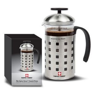 Swiss Force® Coffee Press - 20oz Stainless Steel