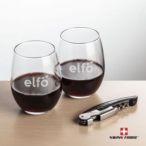 Swiss Force® Opener & 2 Stanford Wine - Black